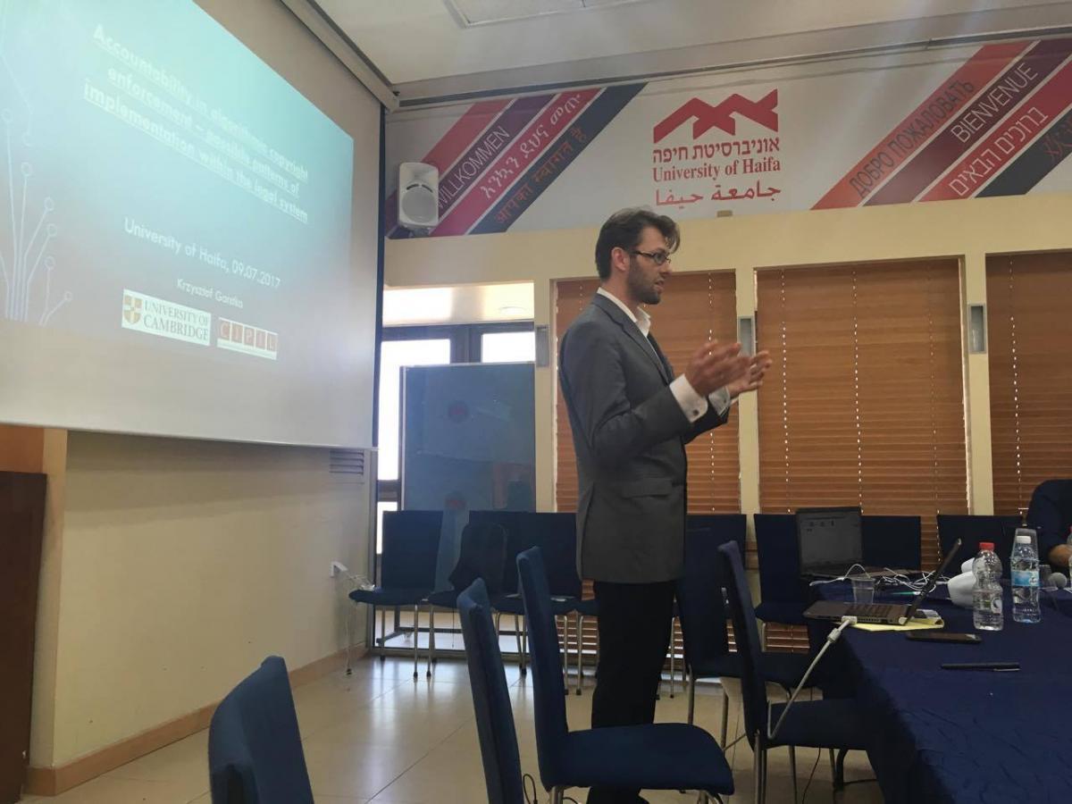 Krzsztof gives his talk