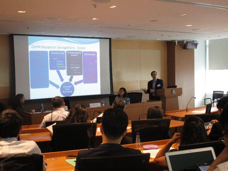 David Erdos gives presentation