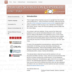Primary Sources on Copyright History (1450-1900)